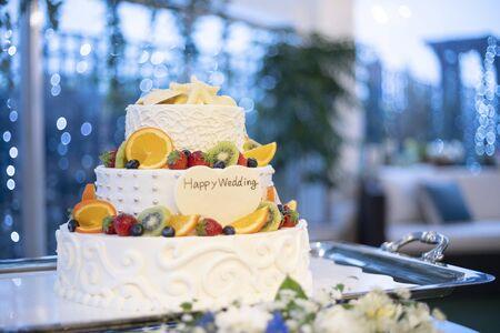 Delicious wedding cake at a wedding