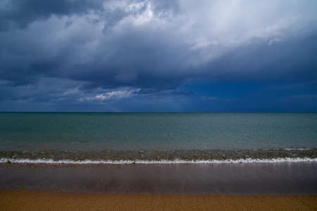 Storm weather on blue background. Beautiful natural landscape.