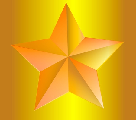 gold star: elegant gold star on a gold background