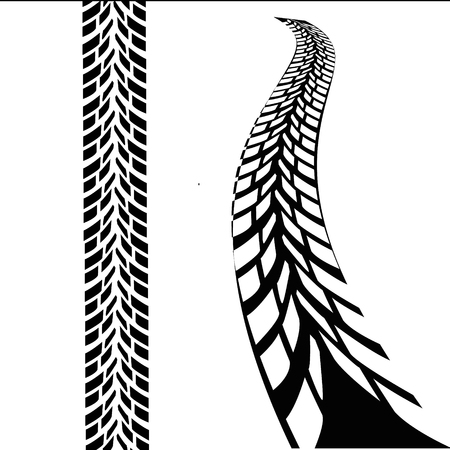 trace of the wheel tread, isolated