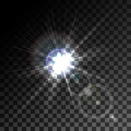 glare: a bright flash of light, glare, detail design, vector