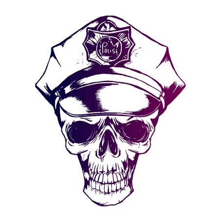 police skull, policeman s cap eps 10 police uniform Reklamní fotografie - 133535427