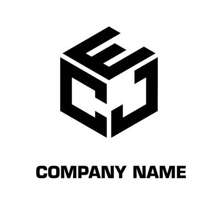 Lettre initiale de logo avec la société d'identité d'icône de symbole de vecteur de concept d'hexagone Logo