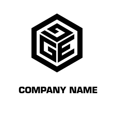 Initial letter with hexagon concept vector symbol icon identity company
