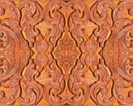Old wooden carving in Thai style Stock Photo - 13123540