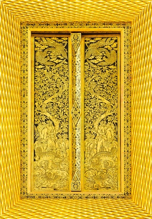 Design beautiful Thai temple gate  photo