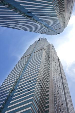 sky scraper: Business Building in City Financial District