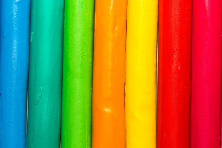 Colorful clay sticks