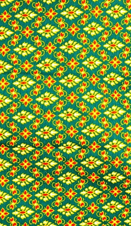 Vintage traditional Thai pattern of the fabric and background  Stock Photo