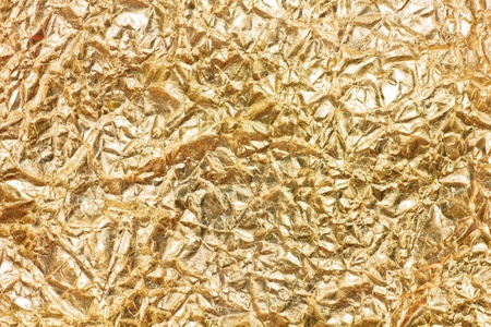 gold wrapper paper texture to backround  Stock Photo