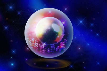 star in crystal ball photo
