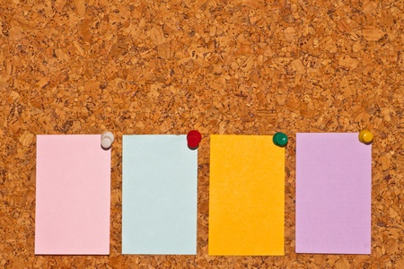 papers on cork board Stock Photo - 13421719