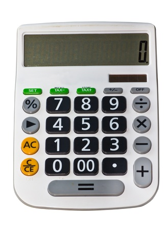 Calculator isolated on white background  photo