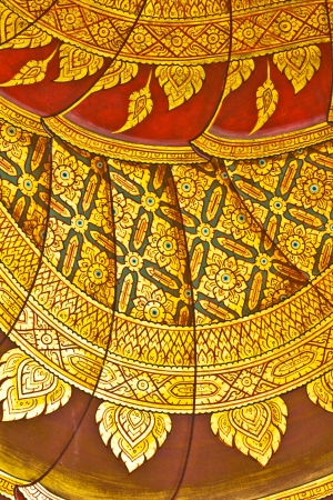 Vintage traditional Thai style art painting on temple for background, Generality in Thailand, any kind of art decorated in Buddhist church etc  created with money donated by people, no restrict in copy or use photo