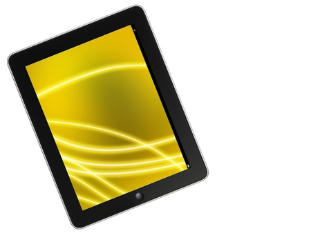 Touch screen device isolate on white background Stock Photo - 13852998