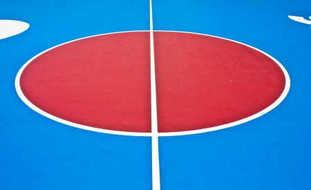 Basketball Court white intersecting lines  photo