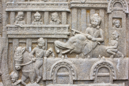 Native art carved on the wall in the temple, Generality in Thailand, any kind of art decorated in Buddhist church etc  created with money donated by people, no restrict in copy or use