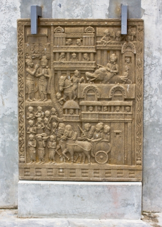 generality: Native art carved on the wall in the temple, Generality in Thailand, any kind of art decorated in Buddhist church etc  created with money donated by people, no restrict in copy or use Editorial