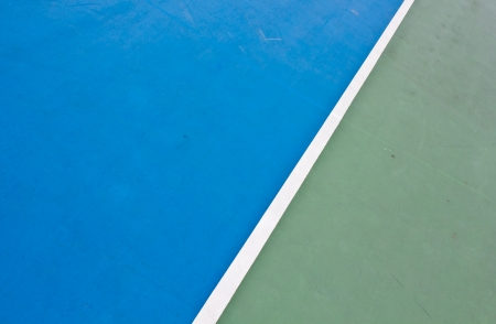 Tennis court white intersecting lines  photo