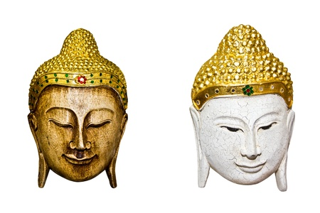 Thai mask isolated on a white background  photo