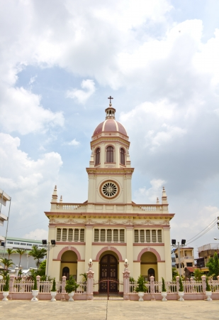 Architecture and decoration of the church in Thailand  Stock Photo - 14180650