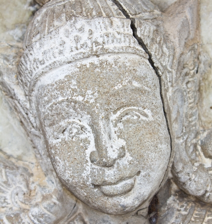 Native art carved on the wall in the temple, Generality in Thailand, any kind of art decorated in Buddhist church etc  created with money donated by people, no restrict in copy or use Stock Photo - 14180562