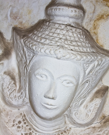 Native molding art on wall in temple, Generality in Thailand, any kind of art decorated in Buddhist church etc  created with money donated by people, no restrict in copy or use photo