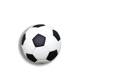 socca: soccer ball on white background Stock Photo