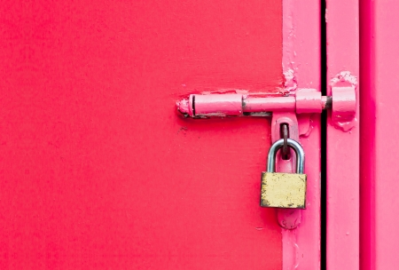 door with lock photo