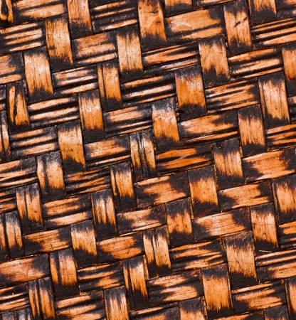 Texture of fabricated bamboo bark for background  photo