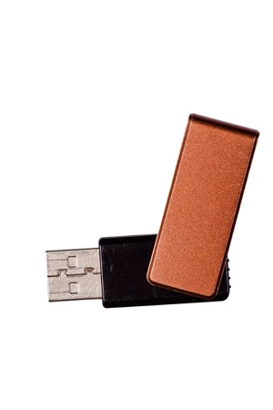 Usb flash memory isolated on the white background photo