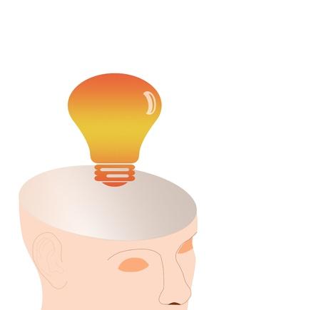 skulp: Idea, heads and light bulb