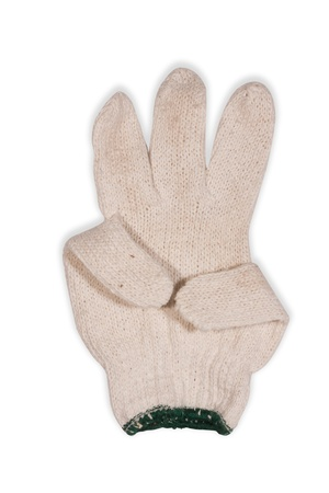 Gloves made of cotton isolated on a white background  photo