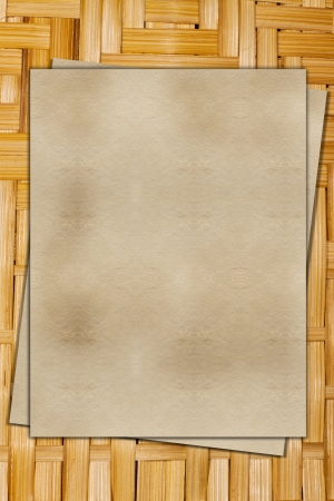 viewfinderchallenge1: Old ragged paper on a wooden background Stock Photo