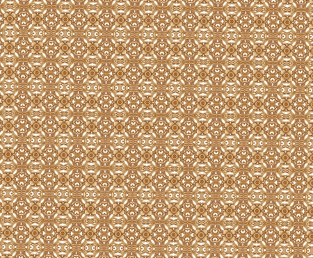 Golden Flower of Seamless Pattern photo