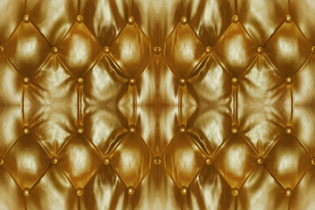 Golden Leather Background of sofa  photo