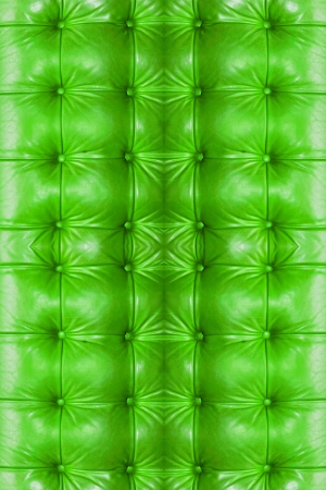 Green Leather Background of sofa  photo
