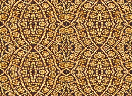 Golden Flower of Seamless Pattern, Vintage traditional Thai style background  Textures  photo