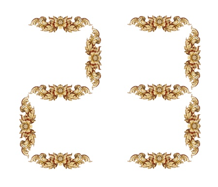Vintage number on white background Stock Photo - 17907918