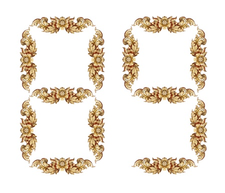Vintage number on white background Stock Photo - 17907922