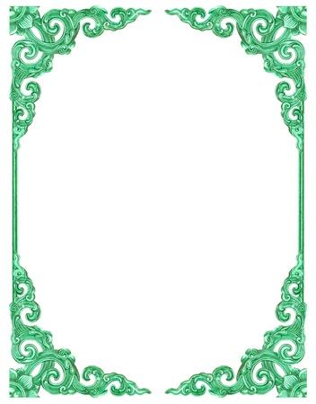 filagree: Empty vintage frame isolated on white background Stock Photo