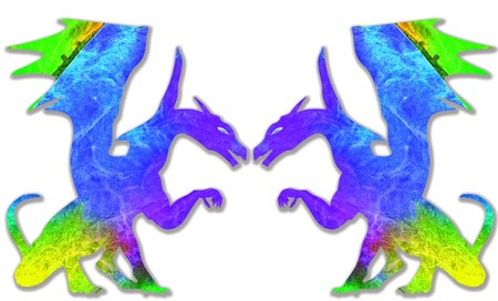 colorful dragon isolated on white background Stock Photo - 18027206