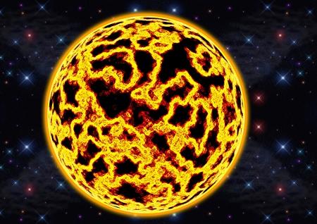 planisphere: fire planet