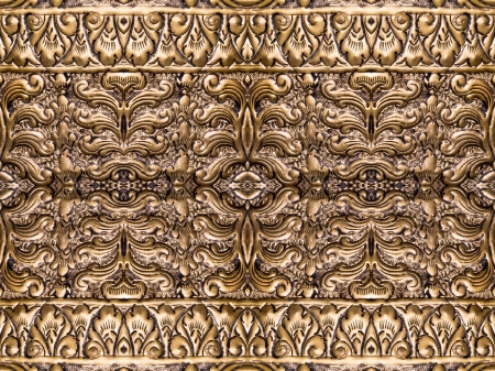 Thai art of engraving on brass plate  photo