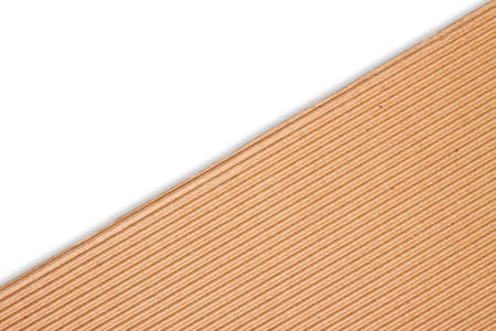 Gap in corrugated cardboard on white background photo