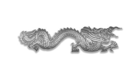 dragon isolated on white background photo