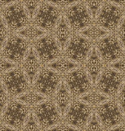 Golden vintage seamless pattern photo