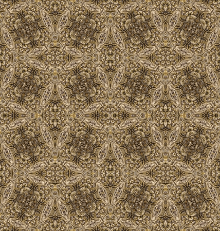 Golden vintage seamless pattern
