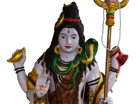 India god Shiva isolated