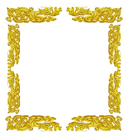 empty golden dragon frame isolated on white background stock photo picture and royalty free image image 20040840 - Dragon Frame
